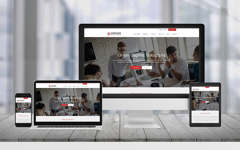 Orion capital solutions website